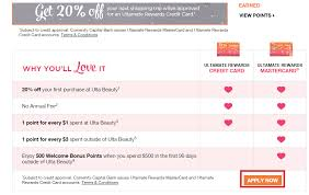 apply for ulta beauty credit card check application status
