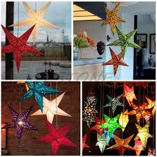 2015 new 45cm xmas star paper lantern lampshade wedding party home