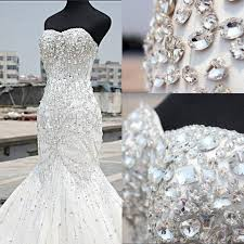 luxury mermaid wedding dresses luxury silver wedding dresses 2018 beading