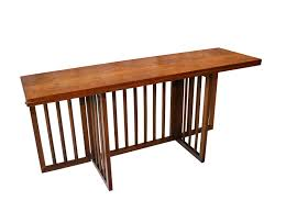 mid century modern folding console dining table
