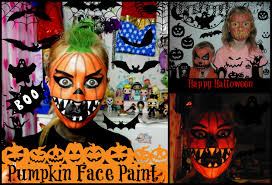 halloween pumpkin face painting youtube
