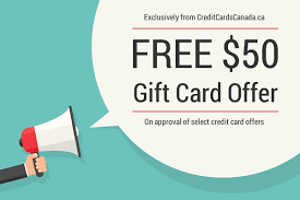 gift card offers free gift card promotion from creditcardscanada ca