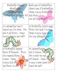 word problem addition and subtraction butterfly word problems addition and subtraction within 10 tpt