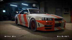 nissan gtr skyline 2015 need for speed 2015 nissan skyline gt r v spec 1993 customize