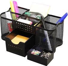 Cool Desk Organizers by Amazon Com Decobros Desk Supplies Organizer Caddy Black