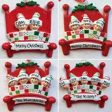 family personalised tree decoration