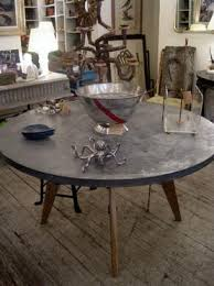 zinc top round dining table remarkable ideas zinc top round dining table pleasurable zinc