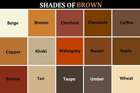 shades of orange names gallery brown color chart with names women black hairstyle pics