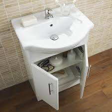 White Gloss Bathroom Vanity Unit Basin Sink Mm Cloakroom - Bathroom basin with cabinet