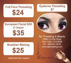 taj threading u0026 beauty 14 photos u0026 48 reviews skin care