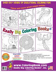 dinosaurs really big coloring book english and spanish 17 5 x