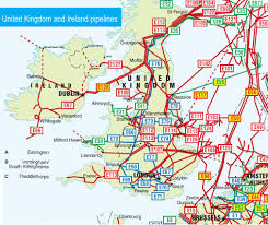 Map Of England And Ireland by United Kingdom And Ireland Pipelines Map Crude Oil Petroleum