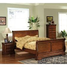 Oak Sleigh Bed Furniture Of America Venice Oak Sleigh Bed Free Shipping