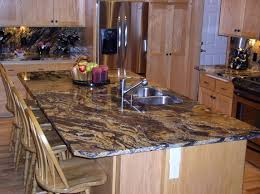 kitchen island with granite top tropical brown granite top kitchen island mixed country wooden bar