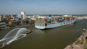 photos of the day us welcomes largest cargo ship to ever visit ports