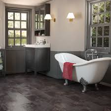 clixeal copper slate tile effect click vinyl flooring 1 48 square
