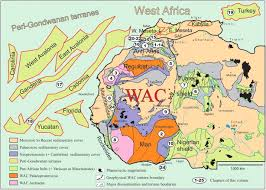 Map West Africa by The Boundaries Of The West African Craton With Special Reference