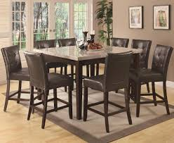counter height dining set milton real marble 9pc u2014 steveb interior