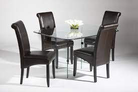 kitchen cool dining room chairs glass dining table round glass