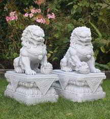 Outdoor Lion Statue by Fu Dog Statues Gardens The Best Statue 2017