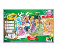 crayola giant coloring pages disney princess amazon co uk toys