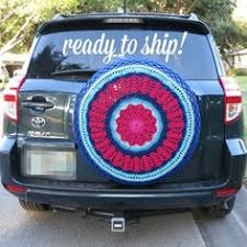 tire cover for honda crv purples and turquoise crocheted spare tire cover for rv