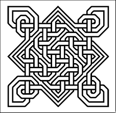 outline celtic knots examples colour