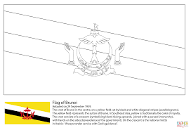 flag of brunei coloring page free printable coloring pages