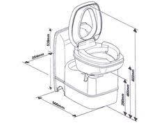 thetford swivel cassette toilet c200 cs campervan pinterest