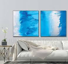 aqua blue wallart canvas artprint tropical escape beach tropical escape aqua blue wall art canvas art print beach home decor turquoise abstract extra large wall art watercolor print set of 2