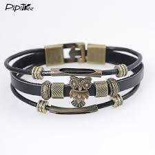 aliexpress buy new arrival cool charm vintage cool hologram men s owl bracelet with charms vintage bronze