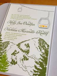 mountain wedding invitations cloud 9 s favorite wedding invitations
