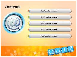 free quiz template powerpoint trivia powerpoint template math