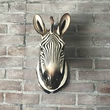 zebra room decor etsy any color large head wall sculpture faux