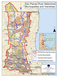 Illinois Map With Counties by Des Plaines River Watershed Lake County Il