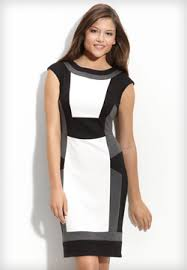 black and white dresses black and white style block dress color blocking and gray