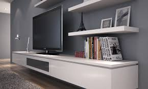 Wall Mount Tv Stand With Shelves by Fcl30 123 3 0 Metre Floating Entertainment Unit In Alpine