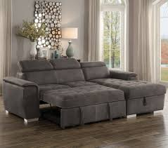 couch taupe ferriday taupe sectional with pull out bed and hidden storage for