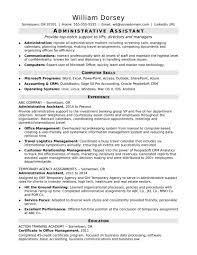 monstercom resume templates midlevel administrative assistant resume sle back