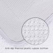 lifewit 3pcs bathroom rugs set soft white lid cover bath mat