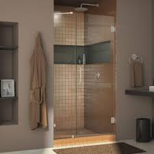 Frameless Bifold Shower Door Dreamline Unidoor 45 In To 46 In X 72 In Frameless Hinged Pivot