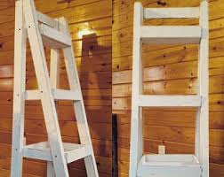 Leaning Bathroom Ladder Over Toilet by Over The Toilet Ladder Shelf Choose Color Stain Paint