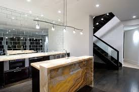 Contemporary Backsplash Ideas For Kitchens Mirror Tile Backsplash Ideas Kitchen Contemporary With Bar