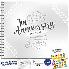 wedding gift journal 10th anniversary gifts for couples by year ten year