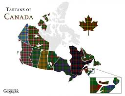 Map Of Canadian Provinces Discover Canada U0027s Regional Tartans Canadian Geographic