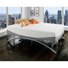 premier ellipse arch platform bed frame brushed silver walmart com