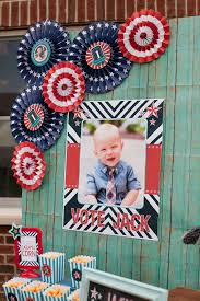 party themes july red white blue patriotic first birthday party pizzazzerie