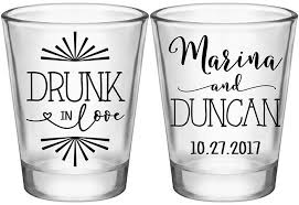 wedding favor glasses in 1c custom glasses wedding favors that