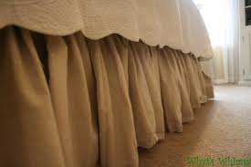 Burlap Bed Skirt Bedroom Different Styles Of Dust Ruffle For Your Bed U2014 Fujisushi Org