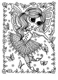 5 pages downloadable coloring book pages funky fairy